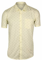Quiksilver Mens Everyday Mini Motif SS Button Up Shirt - Vintage White