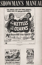 THE KETTLES IN THE OZARKS pressbook, Marjorie Main -----PLUS LOBBY CARD SET-----