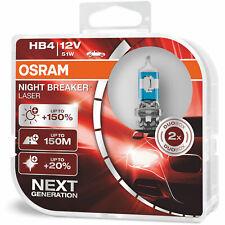 HB4 Osram Night Breaker Laser Fog Light Bulbs Front Spot Lamps Genuine