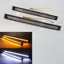 12v 11''front Fog Led Lights Car Turn Signal Indicators Universal White Yellow