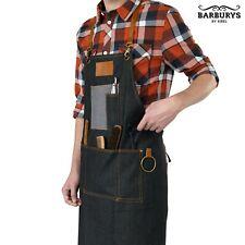 Barburys Denim Professional Barbering Apron MACHO Model Large 80 x 70cm Size