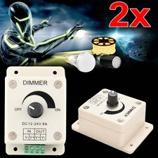 2 x LED Light Protect Strip Dimmer Adjustable Brightness Controller 12-24V 8A LN
