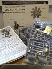 Hasegawa 1:8 French Air-Cooled Rotary Engine CLERGET MODEL 9B