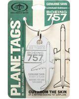 Aluminium Anhänger aus Boeing 757 PlaneTag - S/N 22809