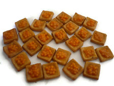 10 Loose Orange Puff Dollhouse Miniatures Food Deco Yummy Pastry Bakery