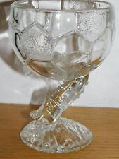 VINTAGE verre COUPE BALLON FOOT CLAIREY LR EQUIPE de FRANCE team FOOTBALL glass