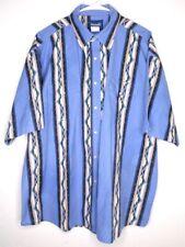 Vtg Wrangler Aztec Print Short Sleeve Western Button Up Shirt Mens XX-Large