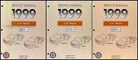 1999 Chevy Silverado GMC Sierra Truck Shop Manual Set 1500 2500 Repair Service