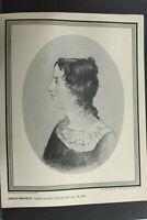 Emily Bronte Novelist Print by International Portrait Gallery Vintage L1270G
