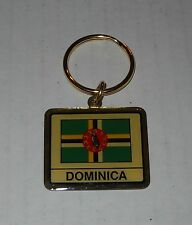 Wholesale Lot Of 10 Dominica Flag Metal Keychain, BRAND NEW