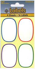 weiß oval Sticker rund Ränder sortiert klebend Etiketten