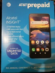"AT&T Prepaid Alcatel Insight 5005R 5"" 4g LTE, 16GB, Android 9 Pie"