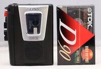Vintage Sony TCM-16 Cassette Corder, Recording Walkman, SERVICED. NEW BELTS