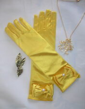 Belle Beauty & the Beast 2017 Childs Costume. Gloves, Necklace and Hair Clip Set