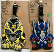 Transformers Optimus Prime Bumblebee Travel Luggage Tag School Bag Silicone NEW