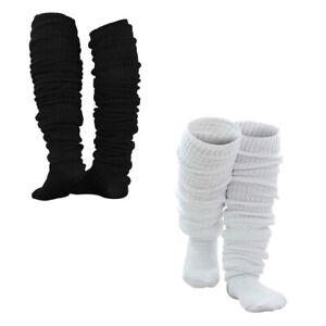 Girls Knitted Bubble Loose Legs Warmer Slouch Long Socks Lolita Cosplay Socks UK
