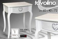 TAVOLO TAVOLINO H72*60*40 CASSETTO SCRITTOIO SHABBY CHIC LEGNO BIANCO 678677