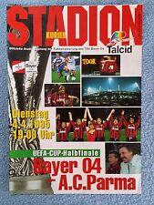 COPPA UEFA 1995-Semi Final 1ST LEG programma-BAYER LEVERKUSEN PARMA V