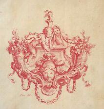 Putti comédiens Théâtre comédien putto gravure 1757 à la manière sanguine XVIIIe