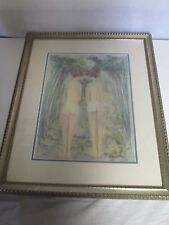 Vtg Barbara A. Wood Signed Numbered Limited Edition 104/875 Framed Print Picture