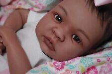 CUSTOM MADE Reborn Bi-Racial AA SHYANN ooak baby lifelike vinyl art ARTIST doll