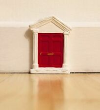 CHRISTMAS XMAS MINI ELF RED DOOR SKIRTING BOARD HOUSE OFFICE DECORATION 5""