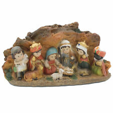 Christmas Nativity 10 Fixed Children Figure and Stable Scene - 89920