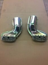 1956 Ford Fairlane V8 Exhaust thru bumper adapters with chrome tips,