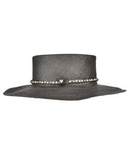 Hollywood Trading Company Mens Classic Hat Solid Black Size 56 CM