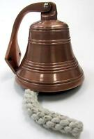 "NAUTICAL MARINE NAVIGATION Aluminum Copper Finish SHIP BELL 6"" W x 6-1/2"" H New"