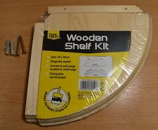 Wooden Natural Wood Shelf Kit & Fitting Storage Unit Wall Mounted Corner Shelves
