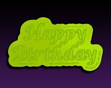 Calligraphy Happy Birthday Flexabet Letter by Marvelous Molds #MM-1704 Gum Paste