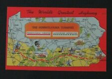 Vintage Linen Postcard The Pennsylvania Turnpike World's Greatest Highway