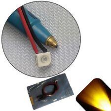 5 x 12v PLCC2 3528 1210 Yellow Gold SMD LED PreWired LED 9v-18v Prewired Ultra