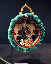 Handmade Ooak Christmas Tree and Snowflake Christmas Ornament