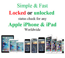 Unlocked or Locked + network status check info for Apple iPhone & iPad worldwide