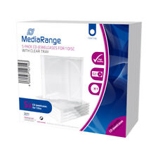 Cd Leerbox Mediarange 5pcs single Clear Retail