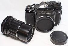 READ! Pentax 6x7 67 TTL Film Camera Body w/ Takumar 200mm F/4 MF Lens