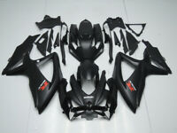 Motorcycle ABS Fairings Bodywork Kit Fit Suzuki 08-10 GSX-R750 600 Matte Black