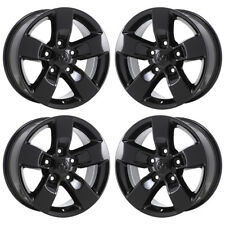 "17"" DODGE RAM 1500 TRUCK BLACK WHEELS RIMS FACTORY OEM 2016 2017 2018 SET 4 2448"