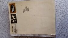 Land rover workshop Manuals series 2 &2A genuine original manual part 1 and 2