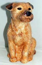 More details for quail ceramics border terrier flower vase 924