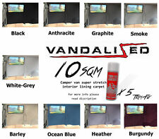10SQM CAMPER VAN CARPET INC 5 TRIM HOLD FIX ADHESIVE CAR BOAT CARAVAN LINING T6