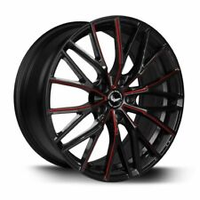 BARRACUDA PROJECT 3.0 Black gloss Flashred Felge 8,5x18 - 18 Zoll 5x115 ...