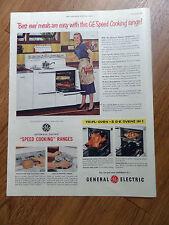 1951 GE General Electric Range Ad Speed Cooking Range Tripl-Oven