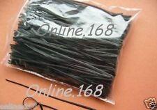 "Plastic Coated Wire Ties Twist Ties 4""_100mm _500pcs BLACK FREE P&P"