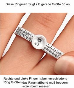 Ring Größe ermitteln Maß Ringgröße selber messen Ring Weite Größe 1 Multisizer