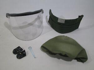 British Army MK6 Helmet Visor Set Clips Cover Neck Protector Airsoft Surplus