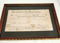 Antique 1873 Fredrick Maryland Tax Bill Certificate Receipt Mr. John J. Pulman