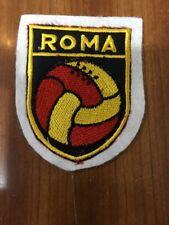 Patch toppa CM8X6 scudetto in stoffa ricamato CALCIO ROMA (pallone)